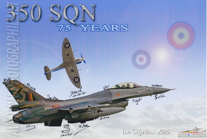 PHOTO COMPOSITION - 75 YEARS 350 SQUADRON - F-16 FA-126 SPECIAL PAINT SCHEME
